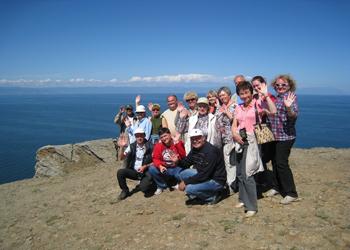Байкал. Туристы